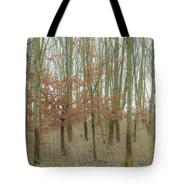 Dualing Trees Tote Bag