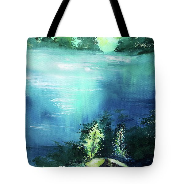Tote Bag featuring the painting Duality by Anil Nene