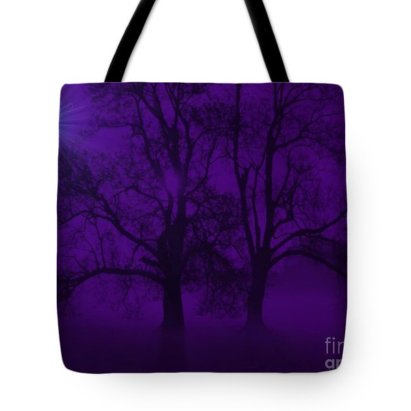 Duality On A Starry Night Tote Bag