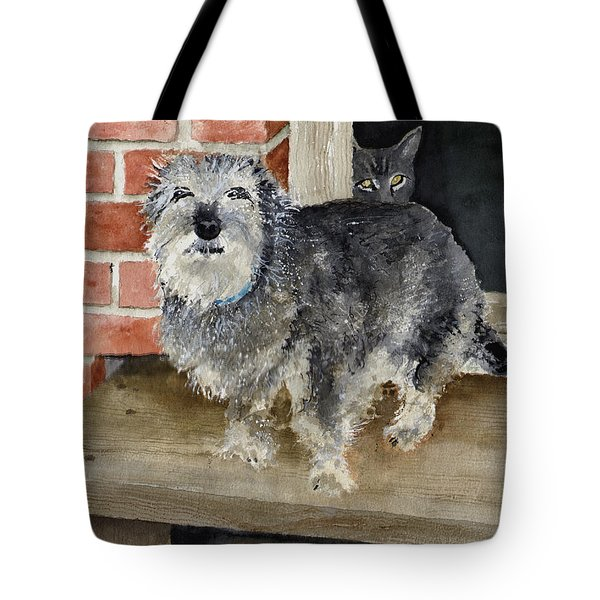 Tote Bag featuring the painting Dub And Tiger by Sam Sidders