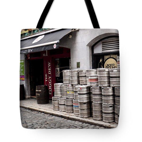 Dublin Beer Kegs Tote Bag by Rae Tucker