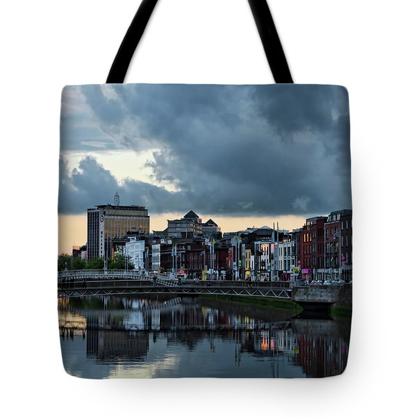 Dublin Sky At Sunset Tote Bag