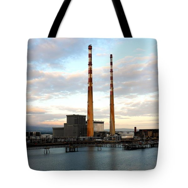 Dublin's Poolbeg Chimneys Tote Bag