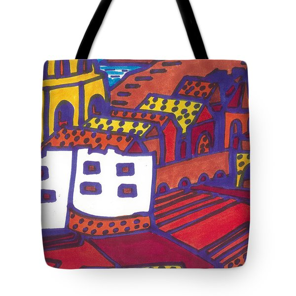 Tote Bag featuring the painting Dubrovnik by Don Koester