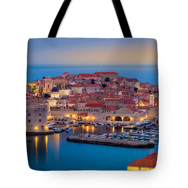 Dubrovnik Twilight Panorama Tote Bag