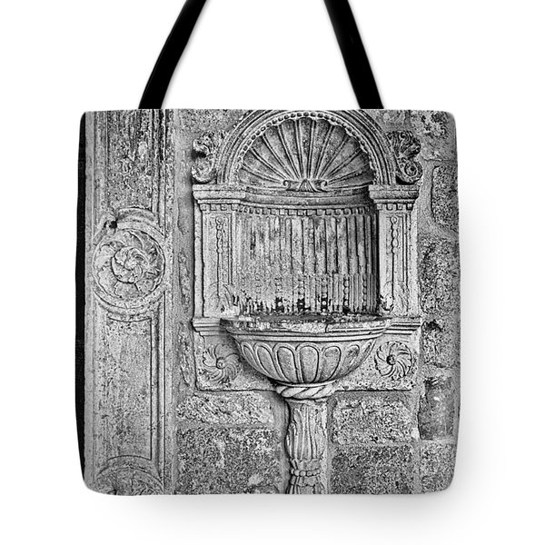 Dubrovnik Wall Art - Black And White Tote Bag