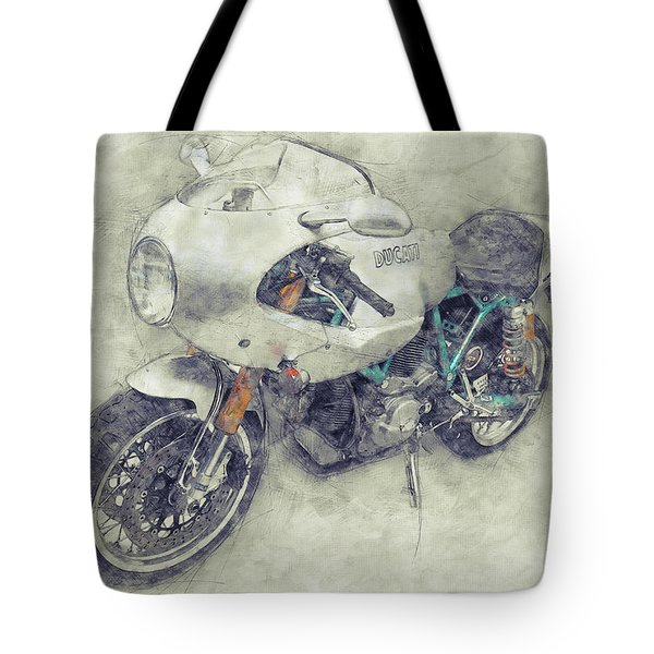 Ducati Paulsmart 1000 Le 1 - 2006 - Motorcycle Poster - Automotive Art Tote Bag