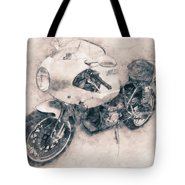 Ducati Paulsmart 1000 Le - 2006 - Motorcycle Poster - Automotive Art Tote Bag