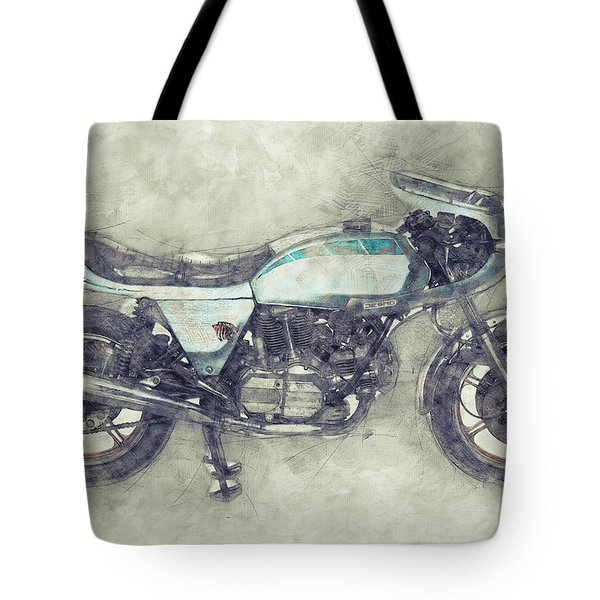 Ducati Supersport 1 - Sports Bike - 1975 - Motorcycle Poster - Automotive Art Tote Bag