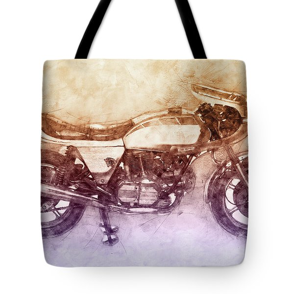 Ducati Supersport 2 - Sports Bike - 1975 - Motorcycle Poster - Automotive Art Tote Bag