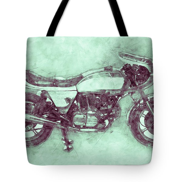 Ducati Supersport 3 - Sports Bike - 1975 - Motorcycle Poster - Automotive Art Tote Bag