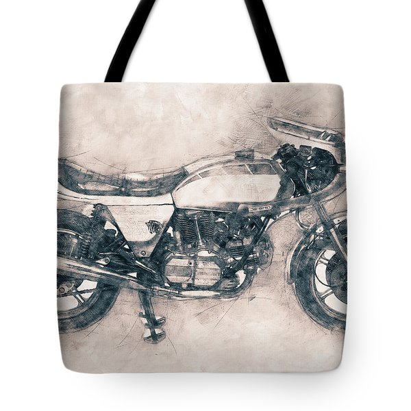 Ducati Supersport - Sports Bike - 1975 - Motorcycle Poster - Automotive Art Tote Bag