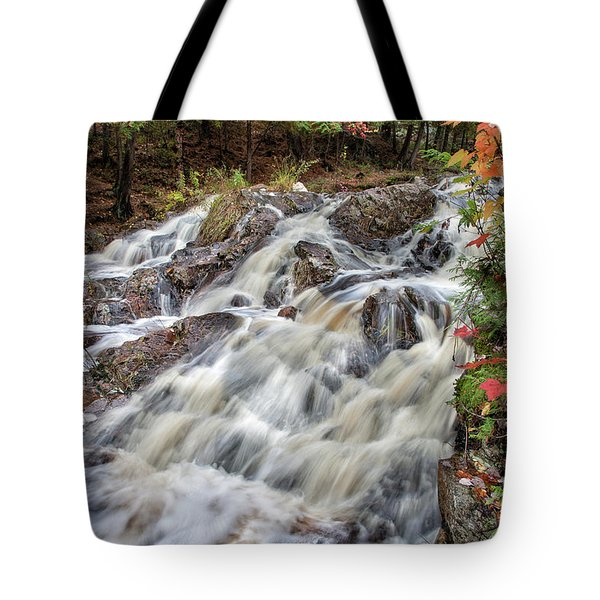 Duchesnay Falls Tote Bag by Brian Boudreau