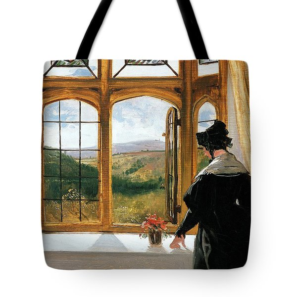 Duchess Of Abercorn Looking Out Of A Window Tote Bag