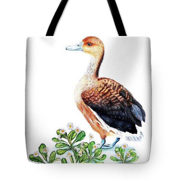 Duck And Daisies Tote Bag