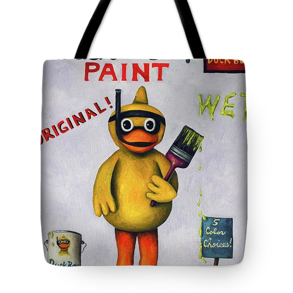 Duck Boy Tote Bag by Leah Saulnier The Painting Maniac