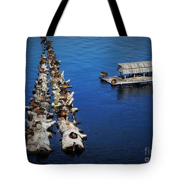Duck Drop-inn Tote Bag