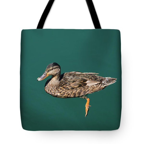 Tote Bag featuring the photograph Duck Floats by Davor Zerjav