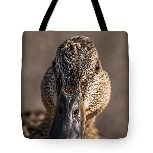 Duck Headshot Tote Bag