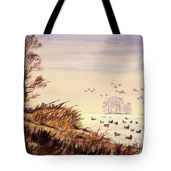 Duck Hunting Times Tote Bag by Bill Holkham