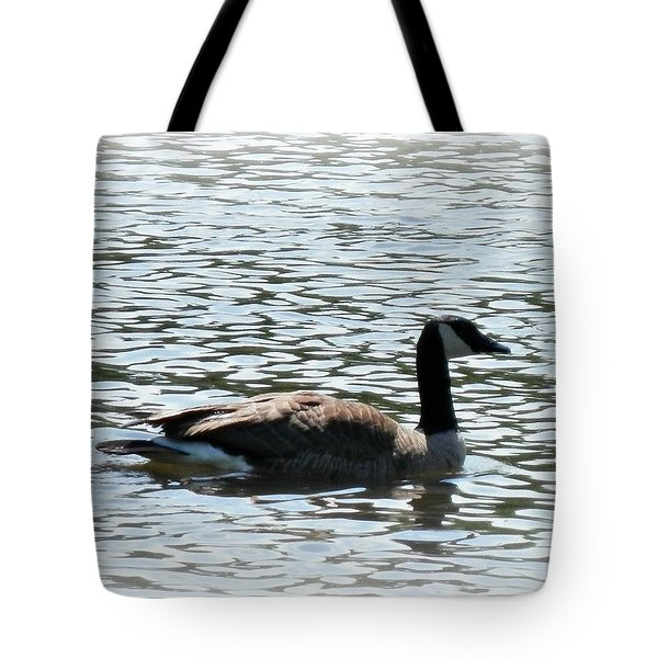 Duck In The Water Tote Bag