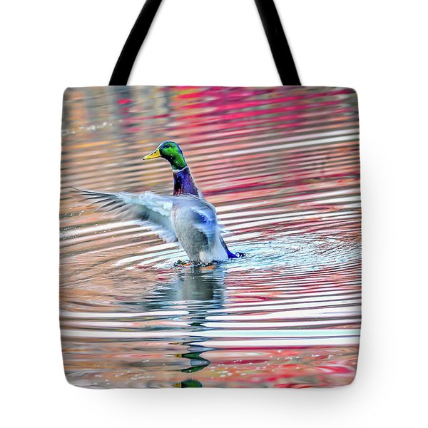 Duck On An Autumn Pond In The Chesapeake Bay Maryland Tote Bag