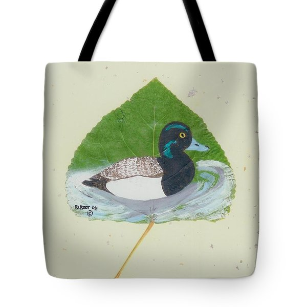 Duck On Pond #2 Tote Bag