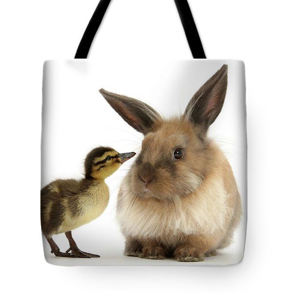 Duck Out Bunny Tote Bag