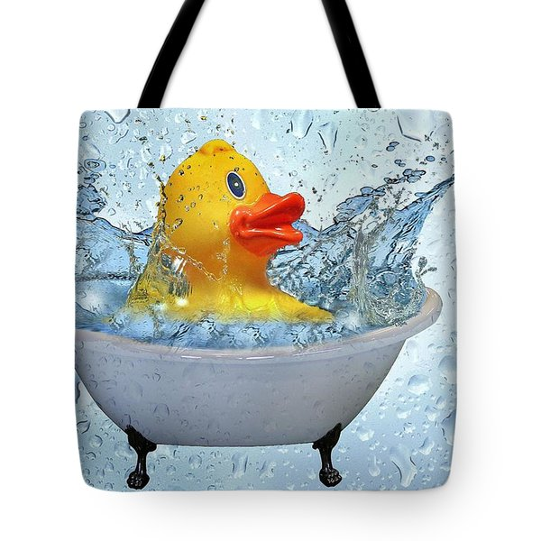 Duck Rubber Tote Bag