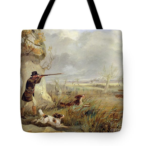 Duck Shooting  Tote Bag by Henry Thomas Alken