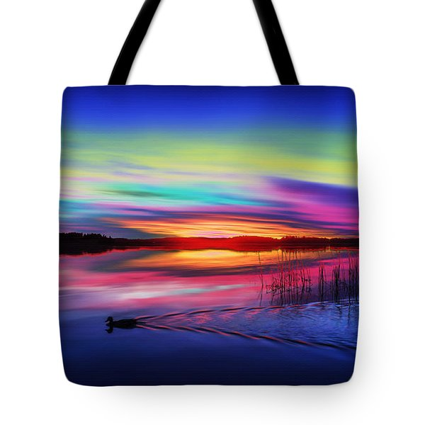 Duck Sunset Tote Bag