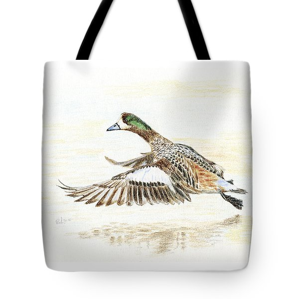 Duck Taking Off. Tote Bag