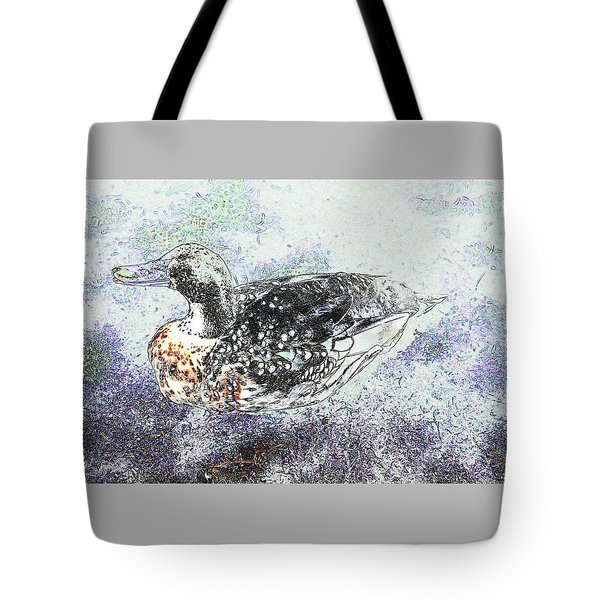 Tote Bag featuring the photograph Duck With Fine Plumage by Nareeta Martin
