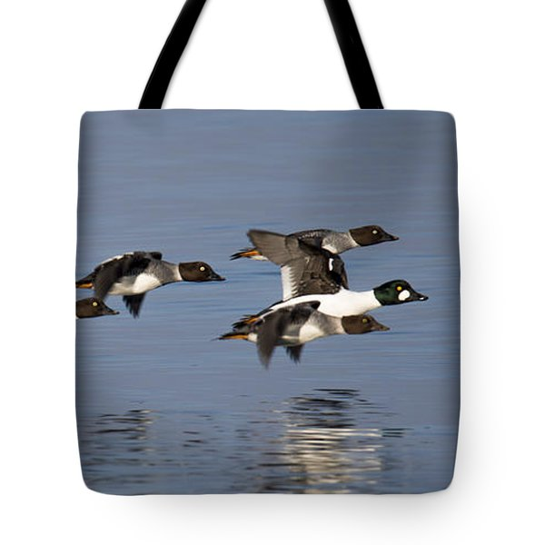 Duckin Out Tote Bag by Randy Hall