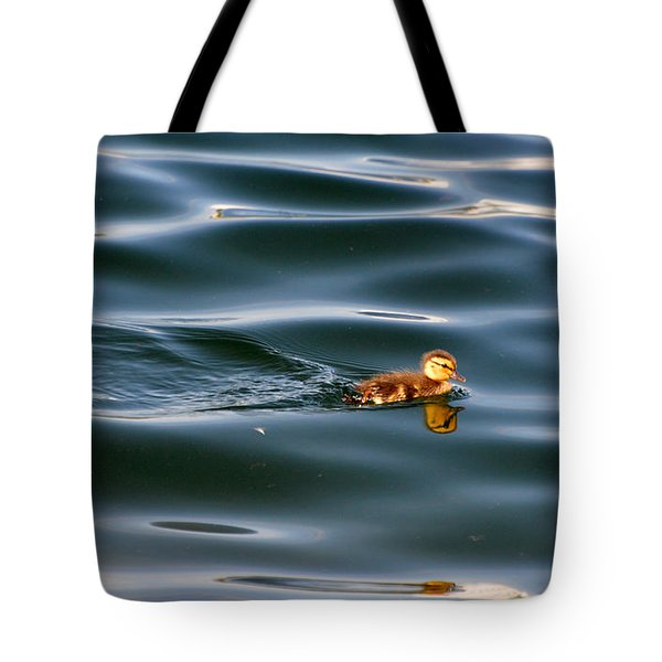 Duckling Swimming 3  Tote Bag by Lyle Crump