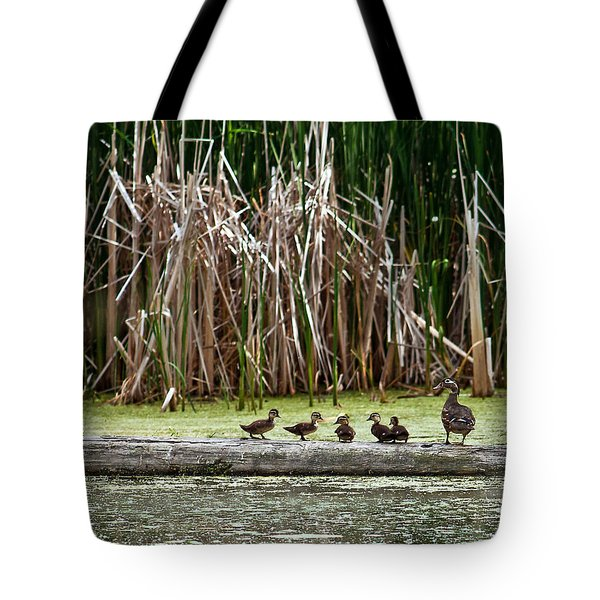 Ducks All In A Row Tote Bag