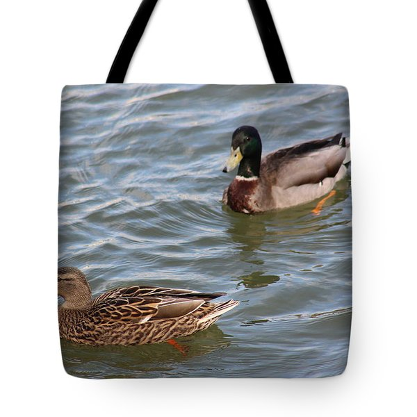 Ducks By The River Tote Bag