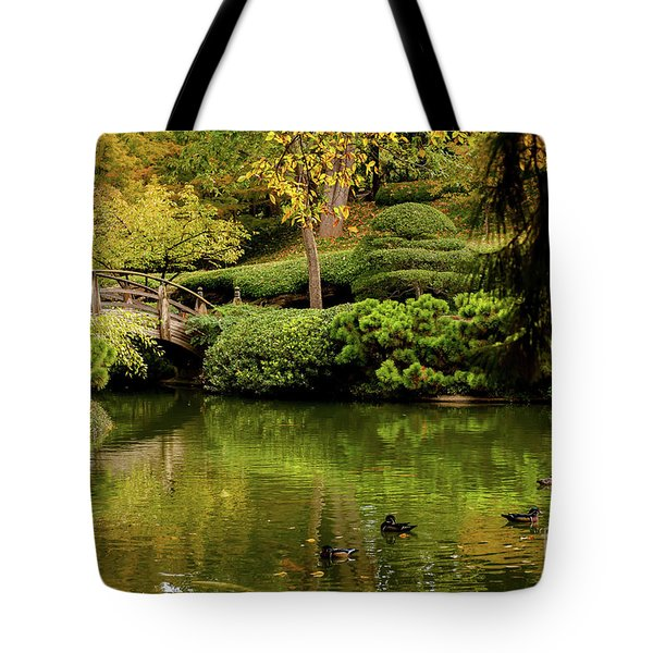Tote Bag featuring the photograph Ducks In Summertime by Iris Greenwell
