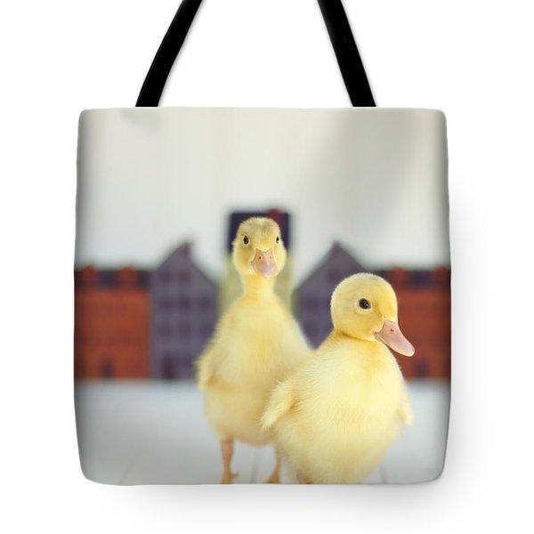 Ducks In The Neighborhood Tote Bag