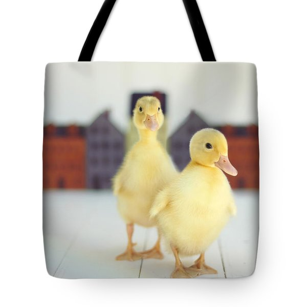 Ducks In The Neighborhood Tote Bag