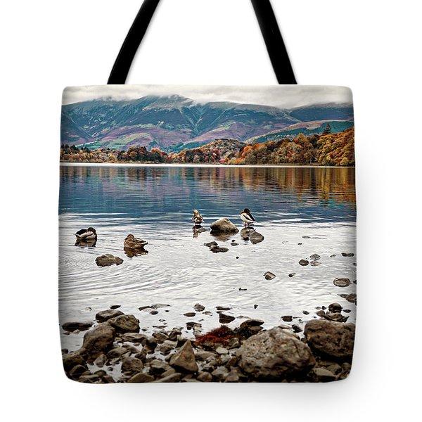 Ducks On Derwent Tote Bag