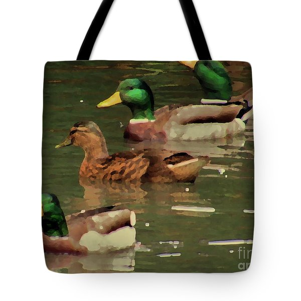 Ducks Race Tote Bag