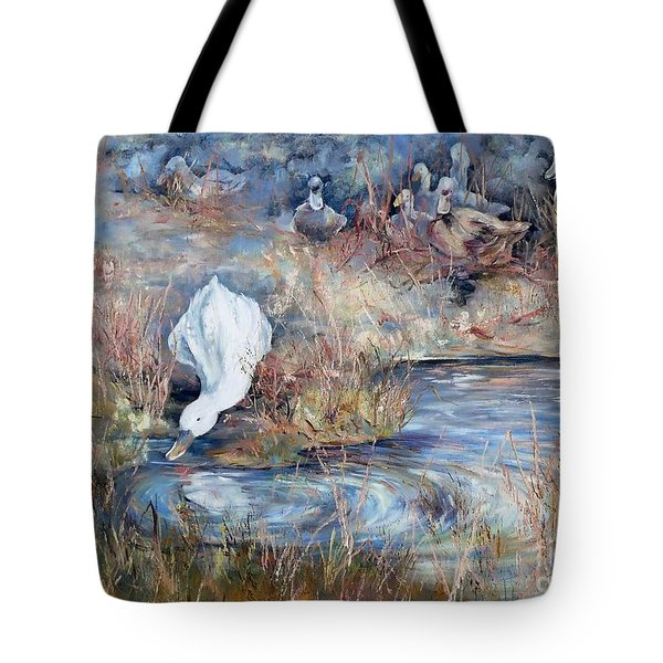 Ducks. Split Opposite Colour Harmony.  Tote Bag