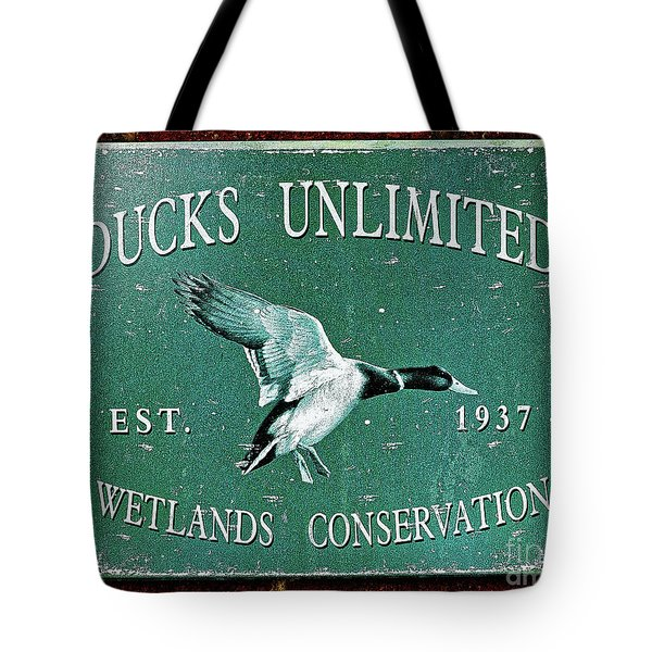 Ducks Unlimited Vintage Sign Tote Bag