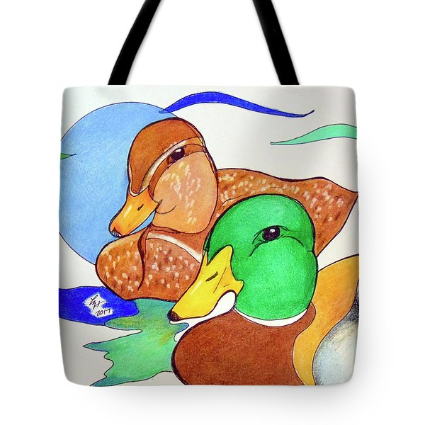 Ducks2017 Tote Bag by Loretta Nash