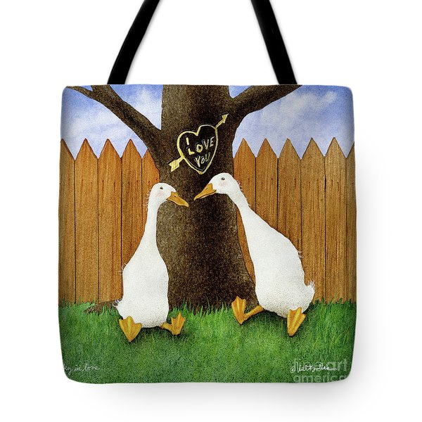 Ducky In Love... Tote Bag