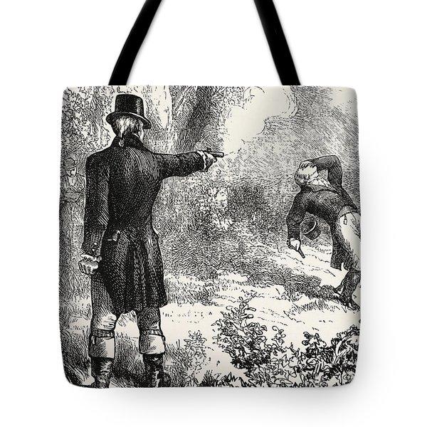 Duel Between Burr And Hamilton Tote Bag