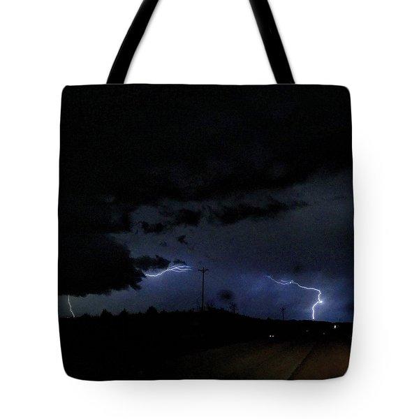Dueling Lightning Bolts Tote Bag