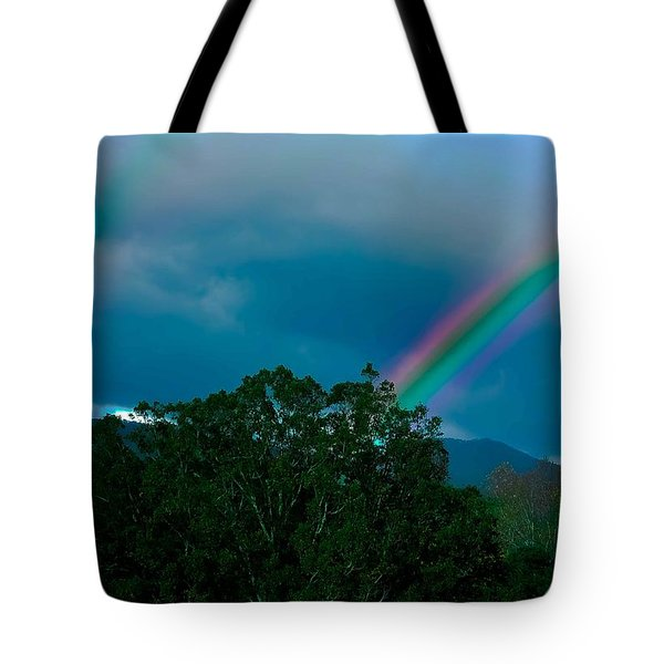 Dueling Rainbows Tote Bag by DigiArt Diaries by Vicky B Fuller
