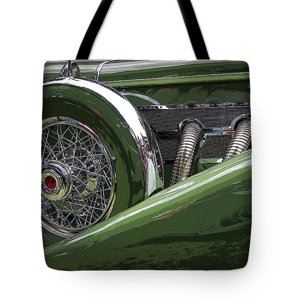 Tote Bag featuring the photograph Duesenberg by Jim Mathis